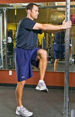 Bent Knee Side to Side Leg Swings Start