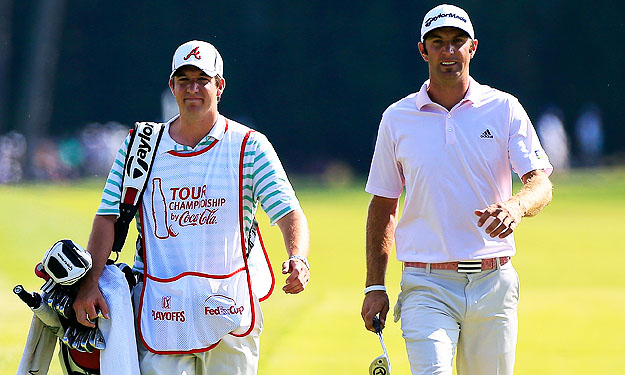 Johnson gives 'new' caddie a try