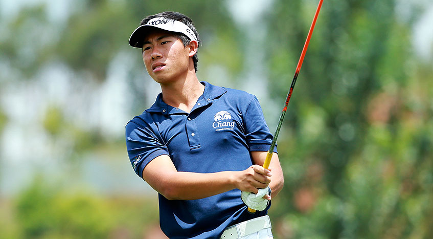Gunn Charoenkul took control of the event with four consecutive birdies in the third round.