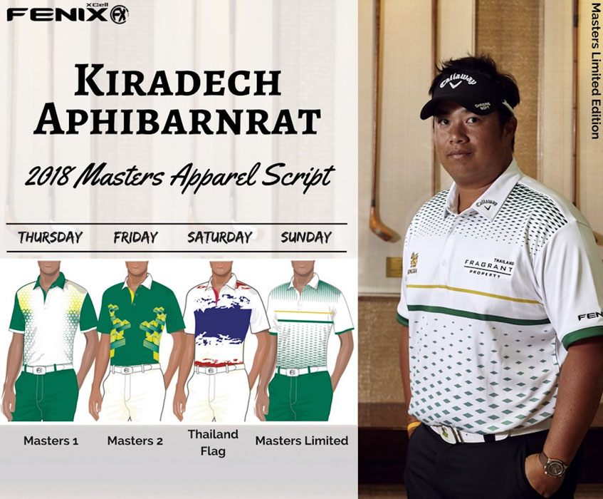 Thailand-based Fenix XCell made the green and yellow polos specifically for  his Masters appearance and the brand is selling ... 259764ba4