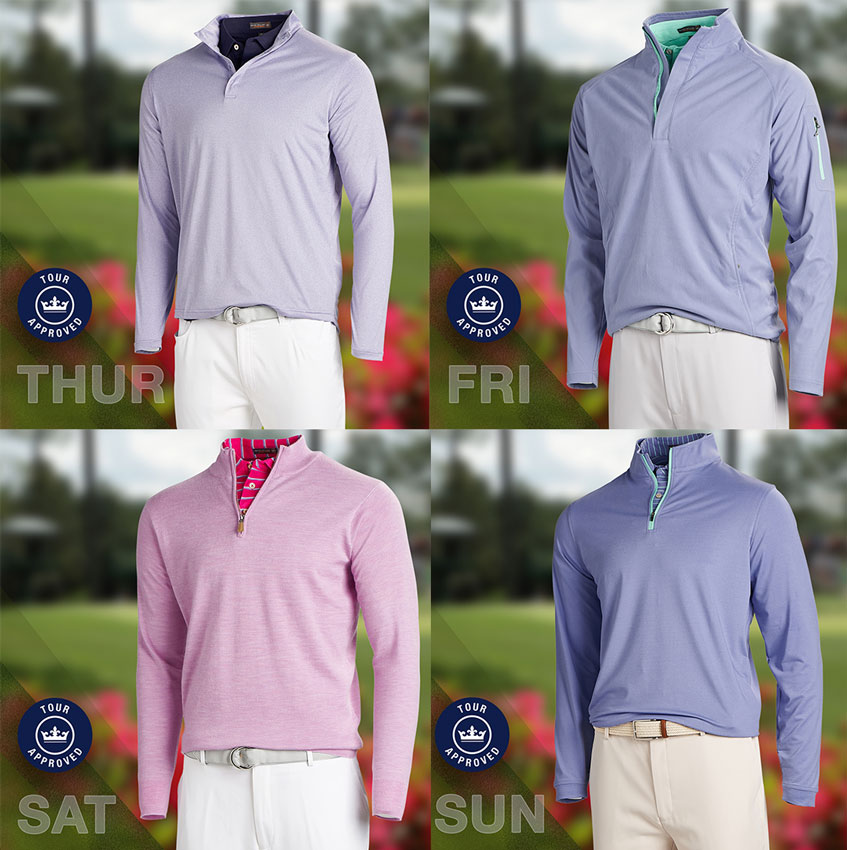 21cec730 Branden Grace will feature many of the crisp new colors in Peter Millar's  Spring/Summer 2018 Collection. His best look comes on Saturday in the form  of a ...