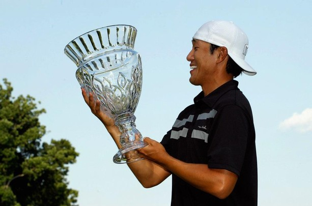 James Hahn birdied the second hole of a playoff against Scott Parel to earn his maiden Nationwide victory at The Rex Hospital Open in his 62nd career start.