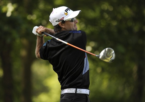 GREER, SC - MAY 19: Camilo Benedetti hits a drive on the fifth hole during the third round of the BMW Charity Pro-Am presented by SYNNEX Corporation at the Thornblade Club on May 19, 2012 in Greer, South Carolina.
