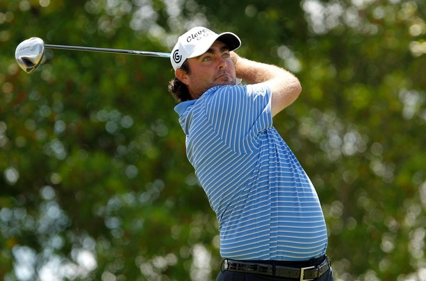 RALEIGH, NC - JUNE 02:  Steven Bowditch of Australia hits his tee shot on the 1st hole during the third round of The Rex Hospital Open at the TPC Wakefield Plantation on June 2, 2012 in Raleigh, North Carolina.