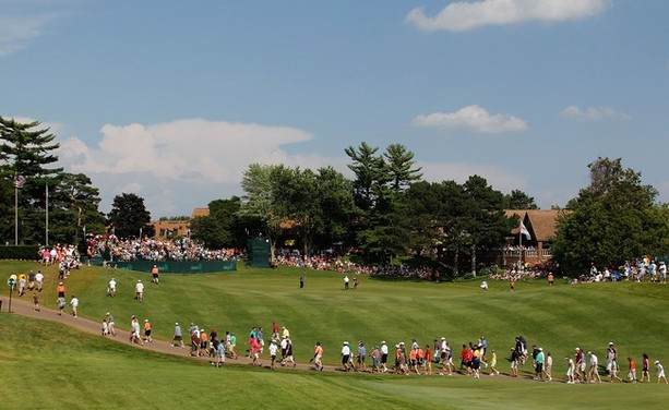 LAKE ORION, MI - JULY 15: General view of the 18th green during the final round of the 2012 Senior United States Open at Indianwood Golf and Country Club on July 15, 2012 in Lake Orion, Michigan.