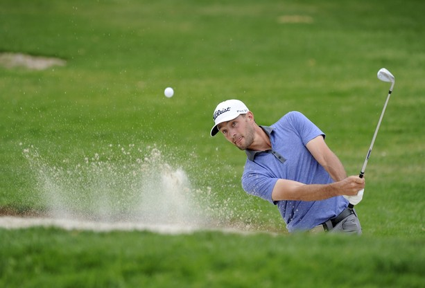SANDY, UT - JULY 15: James Love hits from a bunker on the second hole during the final round of the Utah Championship Presented by Utah Sports Commission at Willow Creek Country Club on July 15, 2012 in Sandy, Utah.