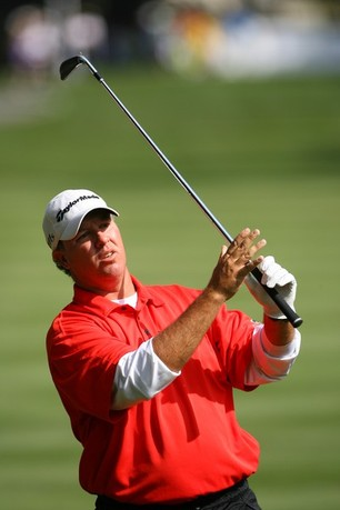 HILTON HEAD ISLAND, SC - APRIL 13: Boo Weekley hits his second shot on the 11th hole during the second round of the RBC Heritage presented by Boeing at Harbour Town Golf Links on April 13, 2012 in Hilton Head Island, South Carolina.