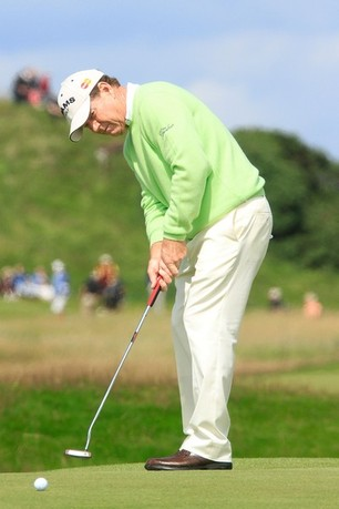 TURNBERRY, SCOTLAND - JULY 26:  Tom Watson of US in action during the first round of the Senior Open Championship played over the Ailsa Course, Turnberry on July 26, 2012 in Turnberry, United Kingdom.