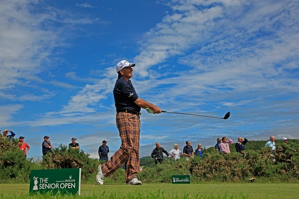 TURNBERRY, SCOTLAND - JULY 26:  Sam Torrance of Scotland in action during the first round of the Senior Open Championship played over the Ailsa Course, Turnberry on July 26, 2012 in Turnberry, United Kingdom.