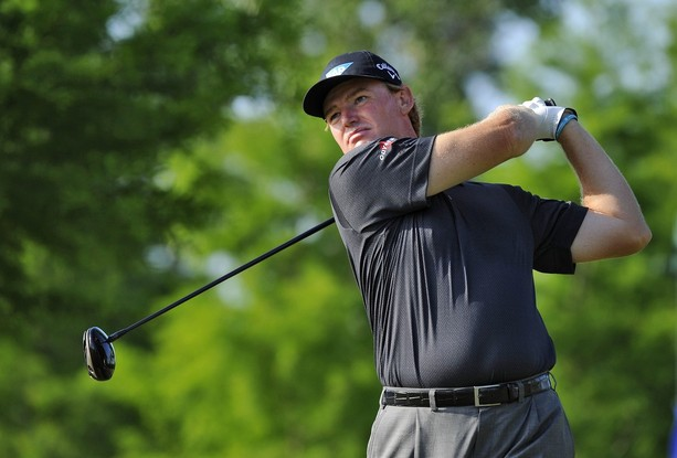 NEW ORLEANS, LOUISIANA - APRIL 27: Ernie Els of South Africa hits a drive on the 13th hole during the second round of the Zurich Classic of New Orleans at TPC Louisiana on April 27, 2012 in New Orleans, Louisiana.