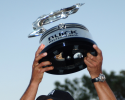 Tiger Woods picked up his first win in over a year when he won the Buick Invitational by three strokes over Tom Lehman, Charles Howell III and Luke Donald. (Photo by Steve Grayson/Getty Images)