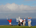 KAPALUA, MAUI, HI - JANUARY 8: Dustin Johnson hits a drive on the fifth hole during the final round of the Hyundai Tournament of Champions at Plantation Course at Kapalua on January 8, 2013 in Kapalua, Maui, Hawaii. (Photo by Stan Badz/PGA TOUR)