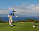 KAPALUA, MAUI, HI - JANUARY 8: Dustin Johnson hits a drive on the 17th hole during the final round of the Hyundai Tournament of Champions at Plantation Course at Kapalua on January 8, 2013 in Kapalua, Maui, Hawaii. (Photo by Stan Badz/PGA TOUR)