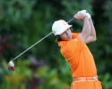 KAPALUA, HI - JANUARY 08:  Rickie Fowler hits a tee shot on the first hole during the final round of the Hyundai Tournament of Champions at the Plantation Course on January 8, 2013 in Kapalua, Hawaii.  (Photo by Christian Petersen/Getty Images)