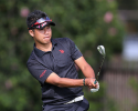 HONOLULU, HI - JANUARY 10:  Hideki Matsuyama of Japan hits his second shot on the 15th hole during the first round of the Sony Open in Hawaii at Waialae Country Club on January 10, 2013 in Honolulu, Hawaii.  (Photo by Christian Petersen/Getty Images)