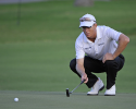 HONOLULU, HI - JANUARY 10:  John Senden lines up a putt during the first round of the Sony Open in Hawaii at Waialae Country Club on January 10, 2013 in Honolulu, Hawaii. (Photo by Chris Condon/PGA TOUR)