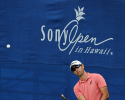 HONOLULU, HI - JANUARY 10: Cameron Tringale chips onto the 18th green during the first round of the Sony Open in Hawaii at Waialae Country Club on January 10, 2013 in Honolulu, Hawaii. (Photo by Stan Badz/PGA TOUR)