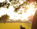 HONOLULU, HI - JANUARY 12: Scott Langley hits to the 18th green during the third round of the Sony Open in Hawaii at Waialae Country Club on January 12, 2013 in Honolulu, Hawaii. (Photo by Stan Badz/PGA TOUR)