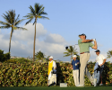 HONOLULU, HI - JANUARY 12: Matt Kuchar plays from the 18th tee during the third round of the Sony Open in Hawaii at Waialae Country Club on January 12, 2013 in Honolulu, Hawaii. (Photo by Chris Condon/PGA TOUR)
