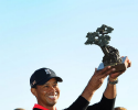 Tiger Woods won his seventh Farmers Insurance Open by four strokes in a Monday finish after several fog delays at Torrey Pines. (Photo by Stan Badz/PGA TOUR)