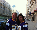 "He is a Minnesota Vikings fan – why?  Swedes are ""Vikings."" His favorite player?  Adrian Peterson."