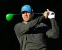 PEBBLE BEACH, CA - FEBRUARY 09:  NFL player Aaron Rodgers watches his tee shot on the second hole during the third round of the AT&T Pebble Beach National Pro-Am at Pebble Beach Golf Links on February 9, 2013 in Pebble Beach, California.  (Photo by Ezra Shaw/Getty Images)