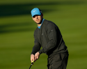 PEBBLE BEACH, CA - FEBRUARY 09:  NFL player Aaron Rodgers watches a putt on the first green during the third round of the AT&T Pebble Beach National Pro-Am at Pebble Beach Golf Links on February 9, 2013 in Pebble Beach, California.  (Photo by Ezra Shaw/Getty Images)