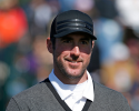 PEBBLE BEACH, CA - FEBRUARY 09:  Baseball pitcher Justin Verlander waits on the 17th tee during the third round of the AT&T Pebble Beach National Pro-Am at Pebble Beach Golf Links on February 9, 2013 in Pebble Beach, California.  (Photo by Scott Halleran/Getty Images)
