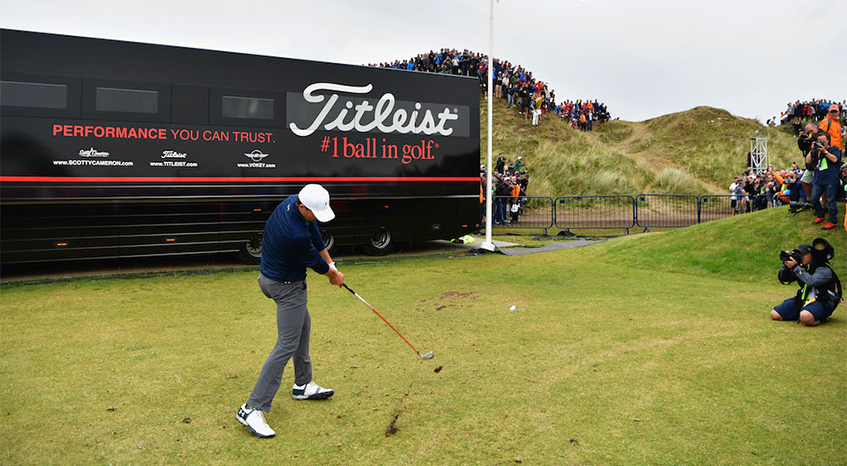 pgatour.com - Photo by - Spieth donates 3-iron from Open Championship win to Royal Birkdale