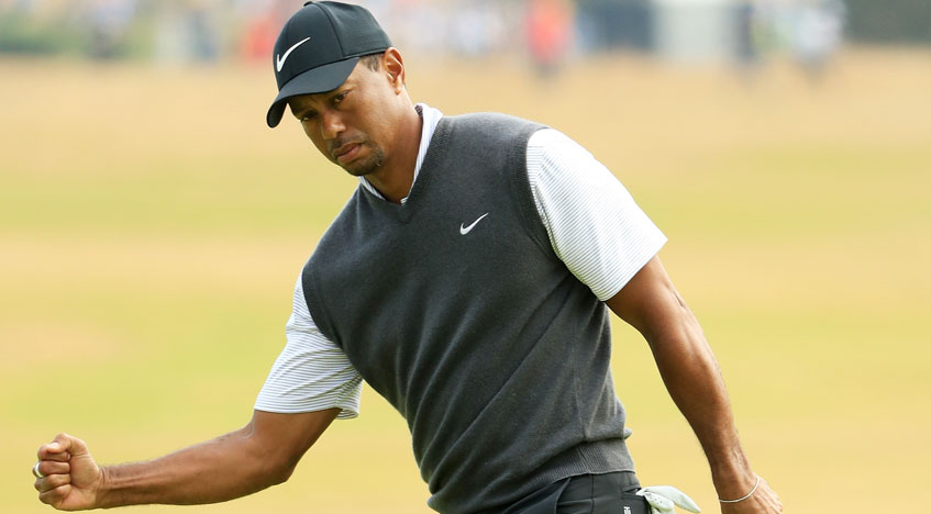 tiger woods u0026 39  66 at the open leaves us all dreaming