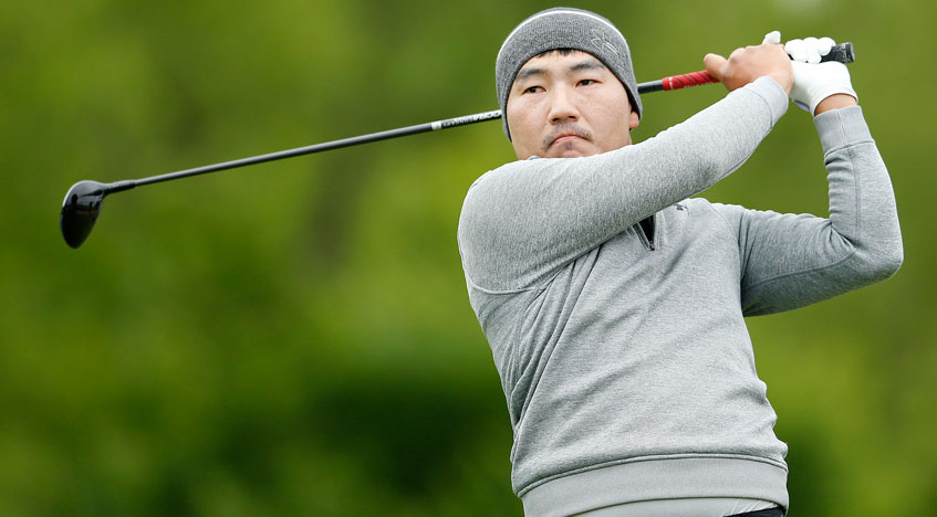 in cool weather  sung kang produces a hot round at at u0026t byron nelson