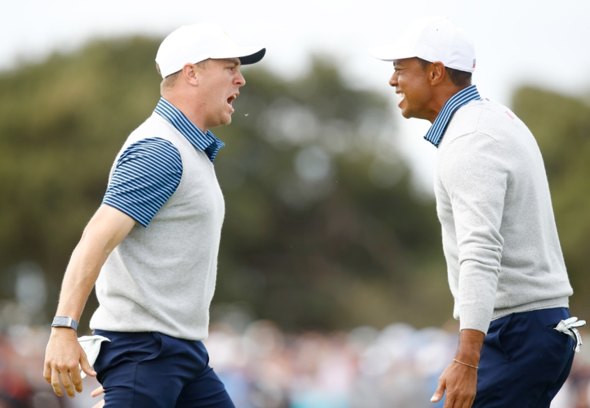 U.S. Team rallies late to trail by three points in Presidents Cup