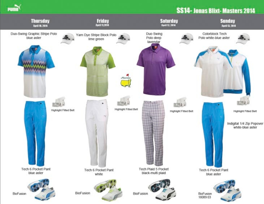 441bac616 Style Insider: 2014 Masters apparel scripts