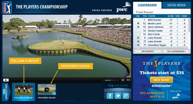LIVE@ THE PLAYERS - Featured Holes & Featured Groups