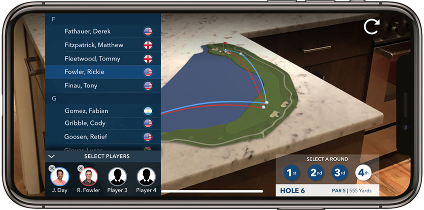 pga tour announces innovative new augmented reality app