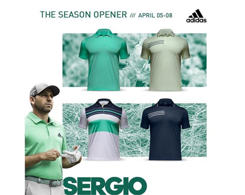 615da9d43bf5 Sergio tees it up in a color palette fitting of a reigning Masters  Champion. Throughout the tournament
