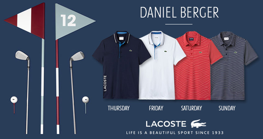 e39c5588d The classic tipped collar polos on Thursday and Friday receive contemporary  details with contrasting inner plackets and LACOSTE lettering on the ...