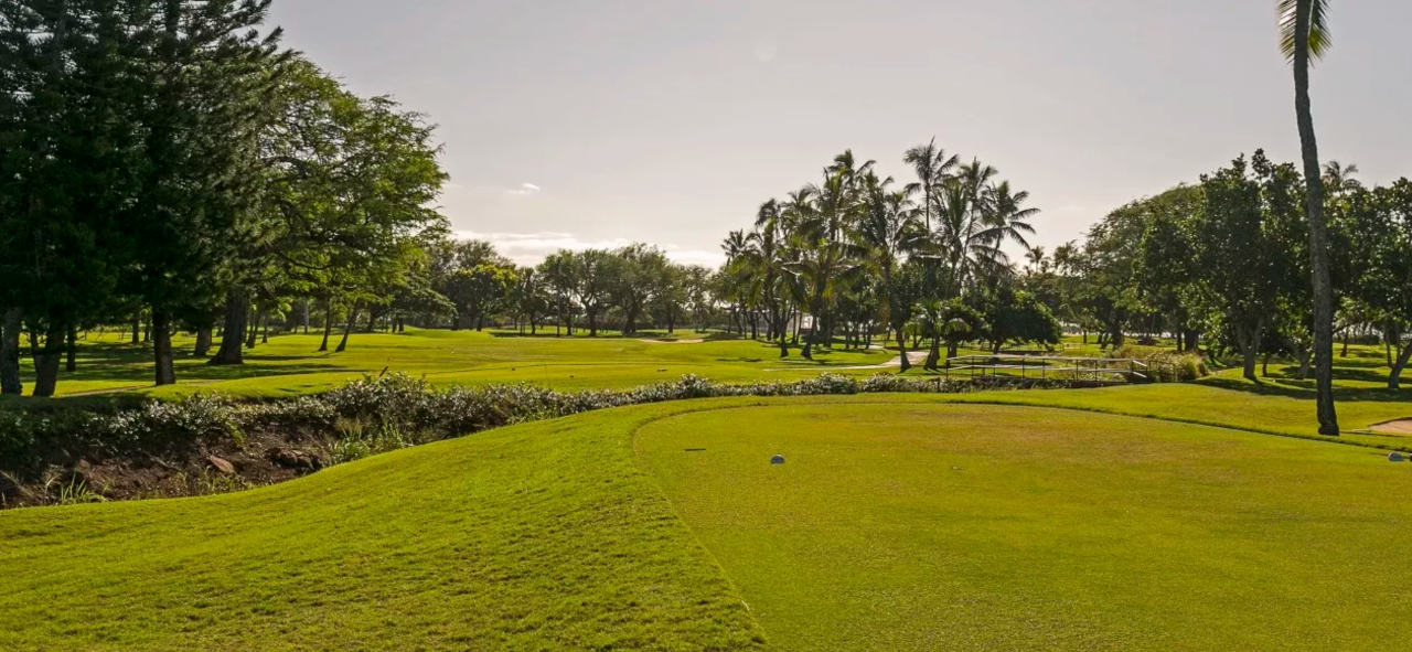 Newly redone par-5 13th hole at Waialae